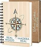 Libreta Bonitas Cuaderno Original de Madera A5 Diarios para Escribir Bloc de Notas Ideas de Regalos Originales para...