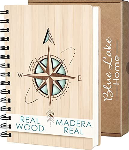Libreta Bonitas Cuaderno Original de Madera A5 Diarios para Escribir Bloc de Notas Ideas de Regalos Originales para Hombre Mujer Cumpleaños Amigas Niña Niño Años Navidad
