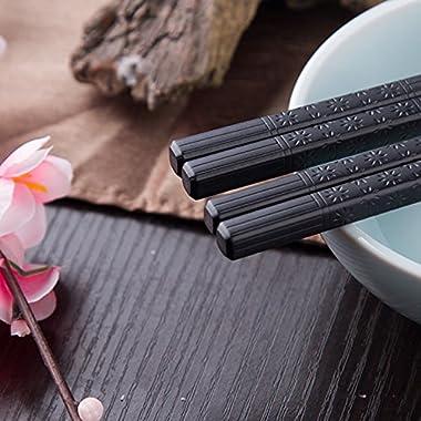 Foster (Goldage) 5-Pairs Fiberglass Dishwasher-safe Chopsticks (Japanese Minimalism - Floating Flowers)
