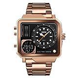 Armbanduhr LANOWO FüR MäNner wasserdichte Multifunktions-Sportuhr Square Fashion Electronic Watch...