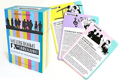 Unbekannt MeterMorphosen MET00687 - Weltberühmt Ratespiel mit 100 Kurzbiografien