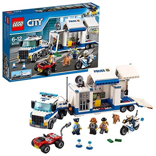LEGO 60139 City Centro de Control Móvil, Juguete de Construcción con Camión, Coche, Moto y Mini Figuras para Niños +6 años