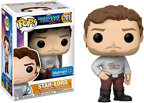 Funko - Figurine Marvel Guardians Of The Galaxy Vol 2 - Star-Lord Shirt Yeah Baby Exclu Pop 10cm - 0889698214605