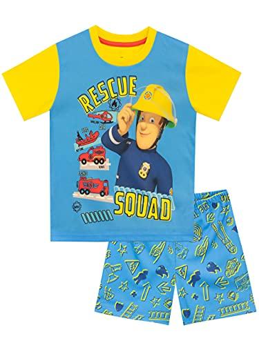 Fireman Sam Jungen Schlafanzug Blau 122