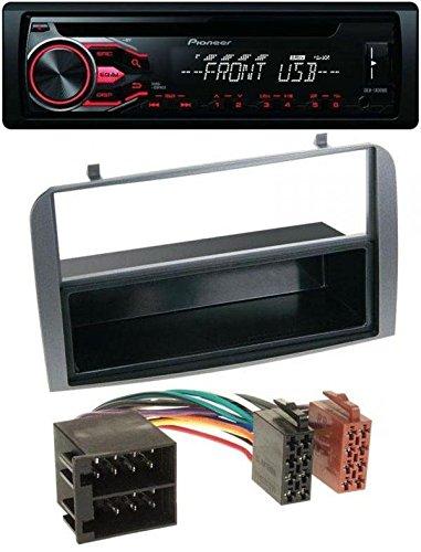 Pioneer CD MP3 USB AUX autoradio voor Alfa Romeo 147, GT - opbergvak antraciet