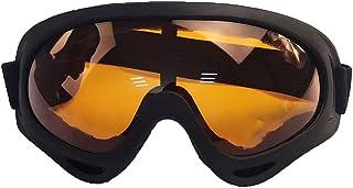 Houjiilollhxyj Ski Goggles, Unisex Winter Skiing Glasses Windproof Goggles Outdoor Sports Glasses Ski Goggles Dustproof Mo...