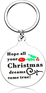 Funny Christmas Keychain Gifts for Women Men Teen Girls Boys Friends Inspirational Birthday Thanksgiving New Year Mom Dad ...