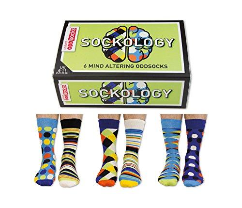 Oddsocks Sock Lot de 6 chaussettes Technology – Chaussette 39/46, multicolore, 39/46