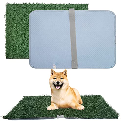 Scenereal Artificial Grass Turf 25.2in X 16.5in with Washable Pee Pads Set,...