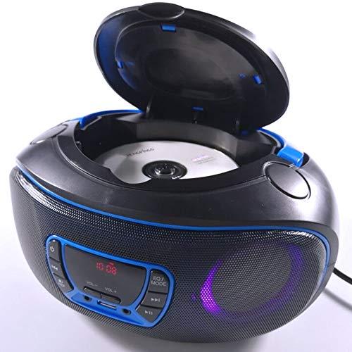 Tragbarer CD-Player Boombox, Bluetooth | FM-Radio | USB | MP3-Wiedergabe | Kompatibel mit CD-R/CD-RW,2 x 2Watt RMS,Radio CD-Player