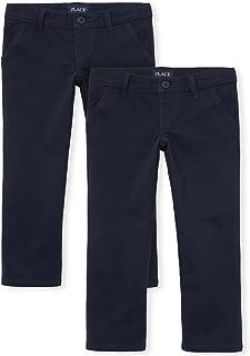 The Children's Place girls Uniform Skinny Chino Pants 2-Pack Pants