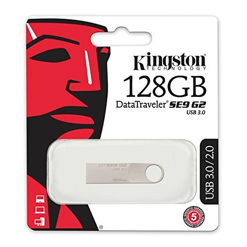 Kingston DataTraveler DTSE9G2 128GB Speicherstick USB 3.0, silber