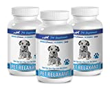 PET SUPPLEMENTS & NUTRITION LLC Dog Aggression Tools - Dog Relaxant - Anxiety and Stress Relief - Calm Aggression - Natural Herbs - Chamomile Dog Treats - 3 Bottles (270 Treats)