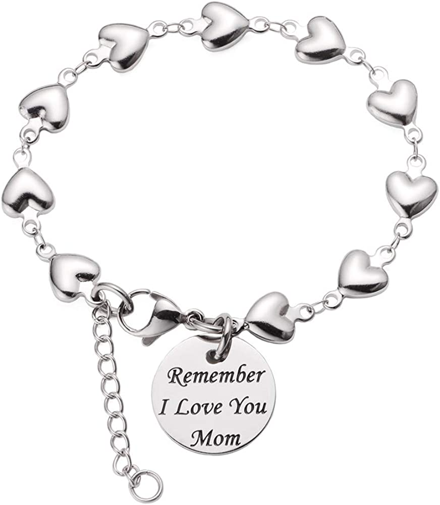 LinnaLove Remember I Love You Mom Super special price Heart Links with Charm Max 46% OFF Bracele