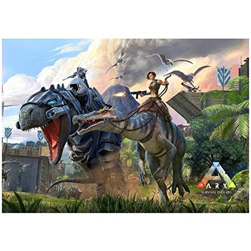 DrCor Ark Poster, Survival Evolved, Hit Game 2018 Xbox Posters e Impresiones Lienzo Arte de la Pared Pintura Imágenes Decoración del hogar -60x90 cm Sin Marco 1Pcs