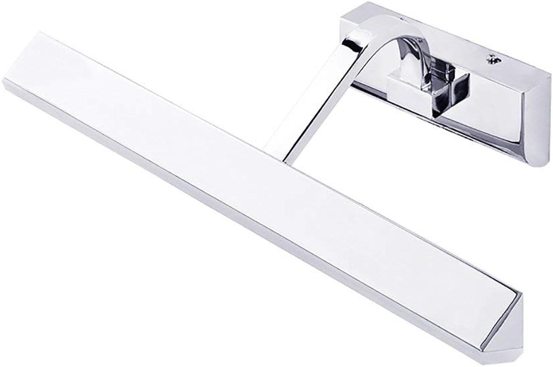 Spiegel Lampen Badezimmer Lampen Spiegel Front-LED-Leuchte des Make-up-Spiegels einfach Retro Dressing Spiegelschrank Lampen Wandleuchte Bild Scheinwerfer Badezimmer leuchten (Farbe  Silber-