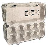Ingbertson Eierkartons für Eier/Eierschachteln für Hühnereier ohne Aufdruck Eierpappen Eierhöcker Eierlagen Eierschachteln (10, für je 10 Eier, grau)