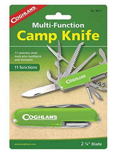 Coghlan's - Couteau militaire Suisse - 11 Functions - Acier inoxydable - Rouge