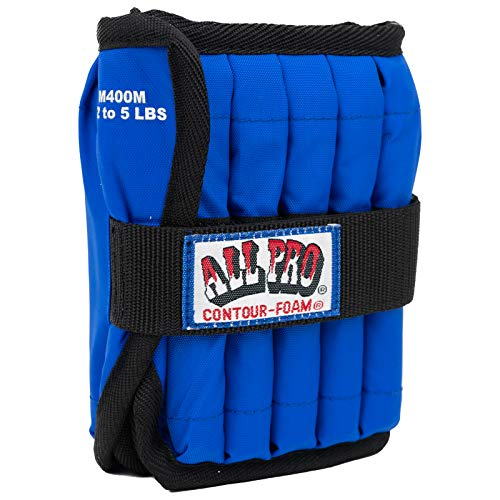 All Pro Adjustable Therapeutic Ankle & Wrist Weights, Ankle, 5 lb. = 10, 1/2-lb. wts.