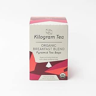 Kilogram Tea - Organic Breakfast Pyramid Tea Bags - Sustainably Produced - 15 count box