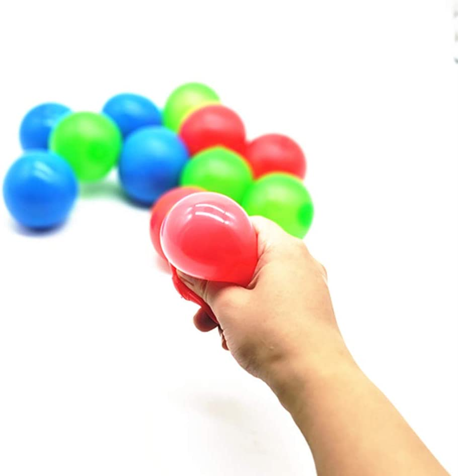 4 Pieces Sticky Wall Globbles Target Balls Decompression Toys Balls Toys for Children Parents Stress Relief Toys 4.5cm//6cm Two Sizes Haplws Sticky Balls