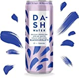 Dash Water - Eau Minérale Gazeuse Infusée aux Cassis - Sans calories - Sans sucre - Sans Édulcorant (12x330ml)