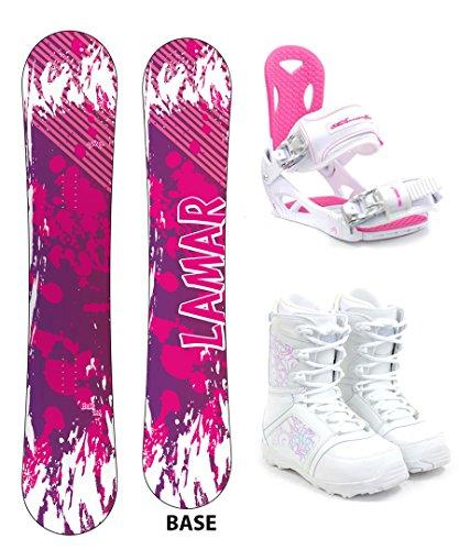 Lamar Belle Women's Complete Snowboard Package M3 Bindings + Boots - Board Size 141 (Boot Size 8)