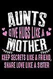 Aunts Give Hugs Like a mother keep secrets like a friends share love like a sister: mothers day...