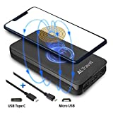 Wireless Portable Charger, 20000mAh Power Bank, ALTravel External Battery Pack | 10W Qi Fast Wireless Charge | USB QC3.0 and USB-C Power Delivery PD3.0 | Lightning Input, Compatible Android IPhone Etc