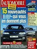 AUTOMOBILE MAGAZINE (L') [No 582] du 01/12/1994 - 15 NOUVEAUTES - RENAULT LAGUNA - LA...