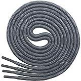 Miscly – Schnürsenkel Rund, Reißfest [3 Paar] für Sportschuhe, Sneaker und Stiefel – 100% Polyester - Ø 4 mm (114 cm, Grau)