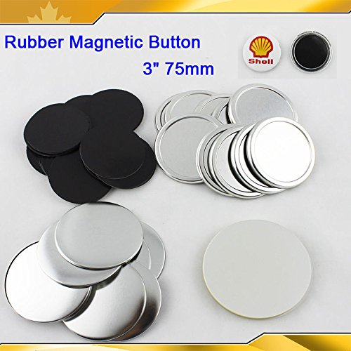 """Asc365 3"""" 75mm Rubber Magnetic Badge Button Parts for Maker Machine DIY"""