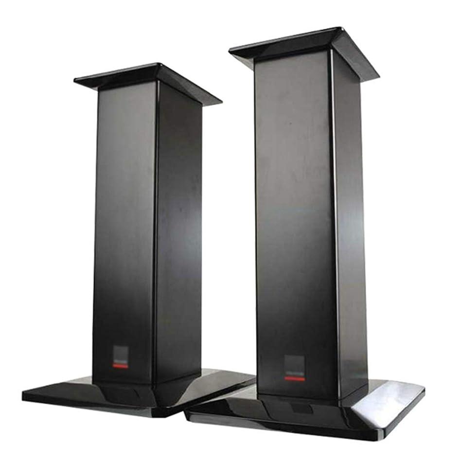 ブリーフケース高める採用スピーカー台?スタンド 本棚スピーカー リビングルームのテレビ木製スタンド 音楽ステージフォローライト三脚 ペアスタンド (Color : Black, Size : 60cm/23.6inches)