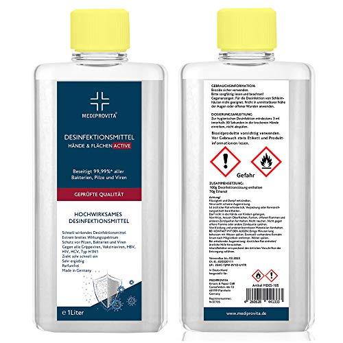 Desinfektionsmittel Hände Hand Haut Desinfektion Mittel Flächen Viren Bakterien 2 Liter (2x 1000ml)