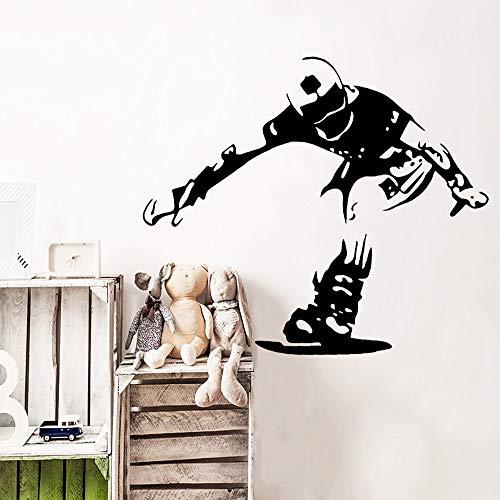 Jsnzff Pegatinas de Pared de Patinaje Papel Tapiz de Arte Autoadhesivo decoración del hogar calcomanía de Arte de la casa de los niños 57x57 cm