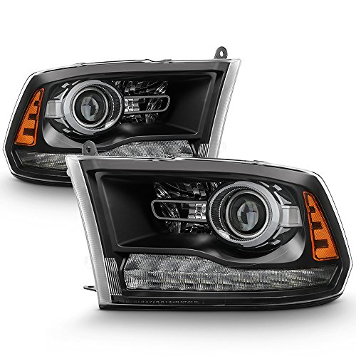 ACANII - For [Factory Style] 2013-2018 Dodge Ram 1500 2500 3500 LED DRL Projector Headlights Driver + Passenger Side
