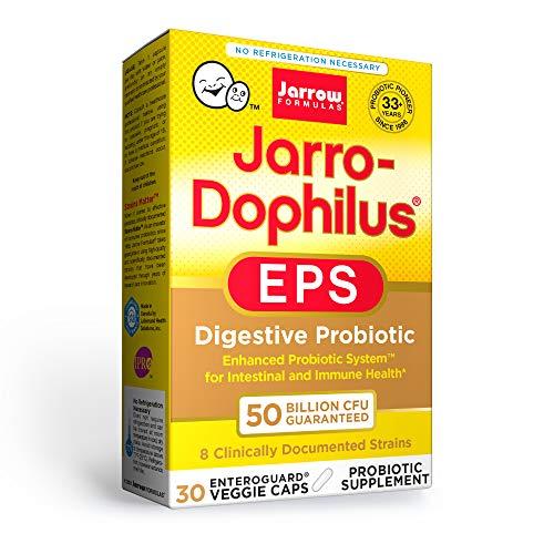 Jarrow Formulas Jarro-Dophilus EPS - 50 Billion Organisms Per Serving - 30 Enteric Coated Veggie Caps - Multi-Strain Probiotic - Intestinal & Immune Health - Up to 30 Servings
