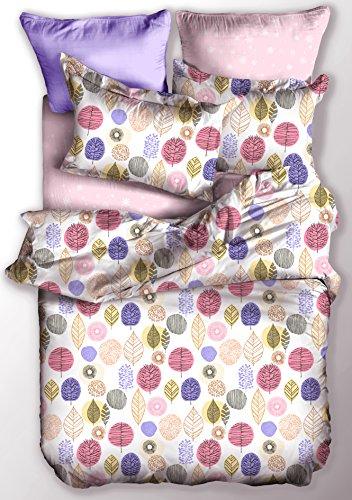 DecoKing Ropa de Cama 200x220 cm 2 Fundas de la Almohada 80x80 Funda Nórdica Microfibra Cremallera Basic Collection Pumpkin Blanco Verde Rosa Naranja Morado Violeta
