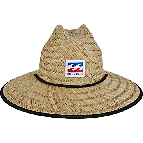 Billabong Men's Tides Print Straw Lifeguard Hat, Navy, One