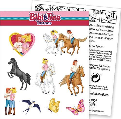 DH-Konzept 9-TLG. Tattoo-Set * BIBI & Tina * als Mitgebsel oder Geschenk | Sticker Bilder Kinder Kindergeburtstag Geburtstag Mädchen Pferde Blocksberg