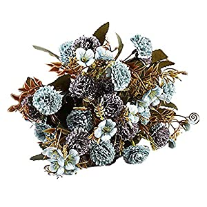 Artificial Fake Lilac Flowers Silk Plastic Bouquets Decor for Home Indoor Outdoor Garden Wedding Party Table Vase