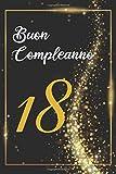 BUON COMPLEANNO 18: Anni | Libro per gli ospiti |120 Pagine | Regalo per il compleanno