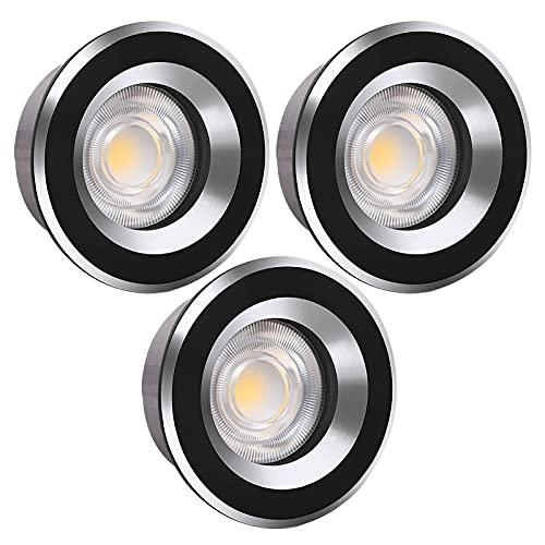 SHXITAYNB Faretti LED da Incasso per Cartongesso, Mini 5W COB Caldo per Cantinetta Vino Armadio Luce da Incasso Cucina Corridoio,Nero