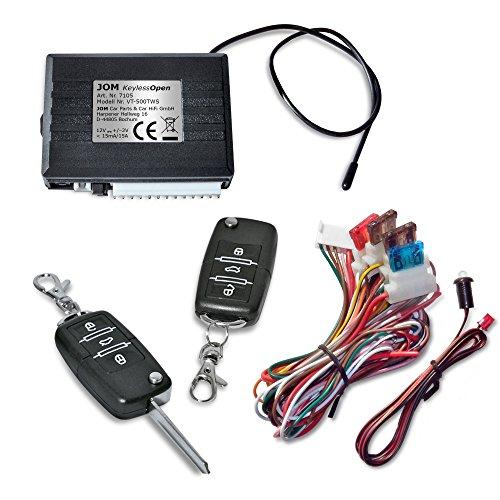 JOM Car Parts & Car Hifi GmbH 7105 Keyless Open, Funkfernbedienung für vorhandene Original-Zentralverriegelung, universal, mit 2 Klappschlüssel