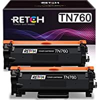 2-Pack RETCH Compatible Toner Cartridge Replacement for Brother TN760 TN-760 TN730 TN-730 Printer