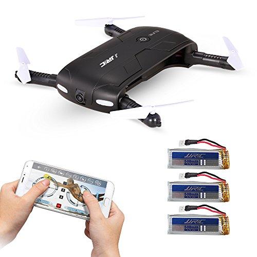 Goolsky JJR / C H37 Pro ELFIE WIFI FPV da 0,3 MP Fotocamera pieghevole G-sensore Mini RC Selfie Drone Due Batterie Extra Extra