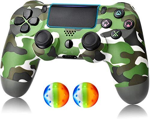 DY Wireless Controller für PS4, Game Controller Joystick für PlayStation 4 mit USB-Kabel, Camouflage Grün