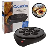 Takoyaki Pan and Ebelskiver Maker - Electric Non-stick Baker for Octopus Balls, Aebleskivers, Donut Holes and Cake Pops