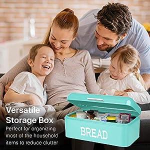 Flexzion Vintage Bread Box - Turquoise