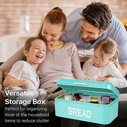 Flexzion Vintage Bread Box - Turquoise